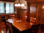 Our dining room is located on the 1st floor.