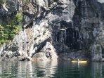 Kayaking Kootenay Lake