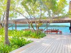 Fort Morgan Cay offers spacious outdoor decks