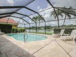 Spend endless hours relaxing on the lanai w/your own private heated pool overlooking tranquil lake views!