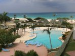View to the ocean and one of the resort's swimming pools!