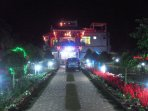 front view during Xmas night.