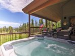 Take in excellent views while you feel pampered in the private hot tub!