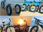Riding a fat bike on the beach is a blast!