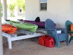 Kayaks and Beach Chairs