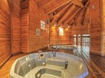 Unwind in the community hot tub for ultimate relaxation.