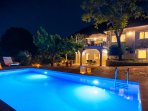 Outdoor of the whole villa at night..!