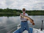 Great Northern Pike  in front of Rice Lake Lodge