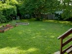 Spacious and grassy back yard