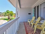 Kick back on the bungalow's front porch and take in pleasant views of the surrounding neighborhood
