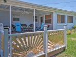 You'll love lounging with your companions under the shade of the covered porch!