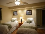 Twin bedroom - two twin beds with down bedding