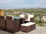 Views of Holyhead mountain from your rattan suite