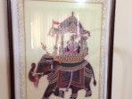 Painting of the famous on elephant ride!