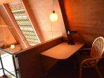 Writing desk in loft