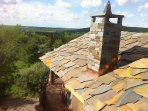 Stone Roof and Chimney of the Hilltop House