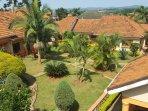 Aerial view of villas