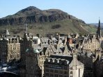 Arthur Seat and the Old Town of Edinburgh.