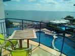 Balkon mit atemberaubenden Meeresblick