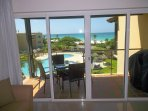 View through your balcony door, terrace furniture and BBQ included!