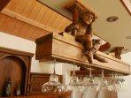 le ciel de bar, détail du mobilier seconde renaissance 1880