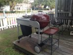 Cook out with the family/friends.Convenient to your kitchen on a wooden platform.Gas and charcoal gr