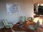 Terrace armchairs corner