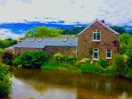 Beautiful stone riverside cottage
