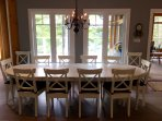 Dining for 12 people at Cliff Bay House