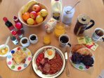 Generous breakfast provisions