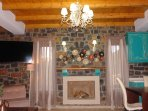 Living room- fire place