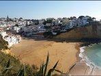 Winter sun over the beautiful Praia do Carvoeiro a stones throw from Casa Tranquila.