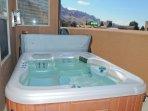 Rim Village I4 - Patio with hot tub