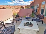 Rim Village U4 - Patio with Firepit and Views