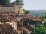 Aubeterre, recognised as one of France's most beautiful villages -  only 10 minutes drive away.