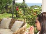 giardino con  vista mare