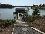 Front walkway to private dock.