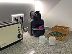 Nespresso coffe machine is available, no extra cost.