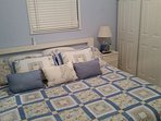 Master bedroom with King size pillow top orthopedic mattress.
