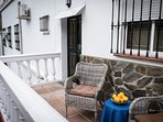 Your Private secluded balcony over looking a orange grove