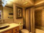 Guest bath with full bath/shower