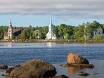 Mahone Bay is less than 10 away