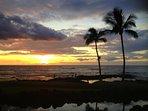 Sunset from the Canoe House restaurant in Mauna Lani Resort