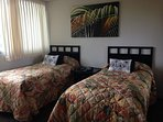 Twin beds in guest room. These can be made into a king bed with advance notice.