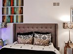 You'll feel right at home inside the studio's elegantly designed interior