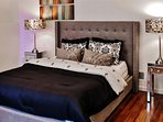 You'll get a restful night's sleep on this plush queen-sized bed with memory foam mattress