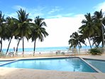 Coastal beach front building with direct access to Pine Grove Isla Verde Beach