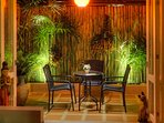 Delightful Garden Patio surrounded by beautiful bamboo