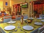 Fine dining at the villa