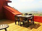 Gran terraza con vistas espectaculares.